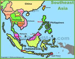 Map of Southeast Asia (Southeastern Asia)